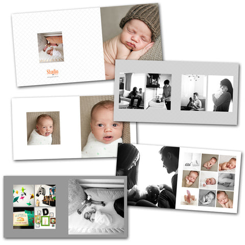 Album layouts and photography templates, 10x10