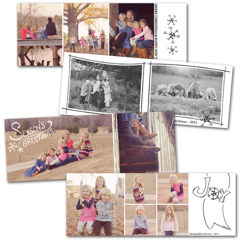 hand drawn design elements photography templates