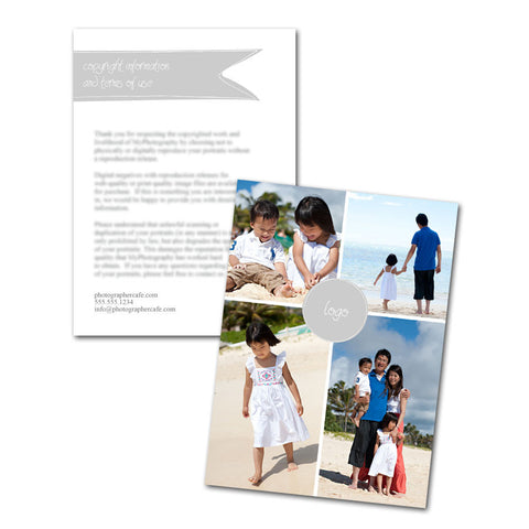 photography copyright information cards