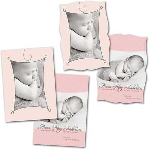 newborn announcement cards