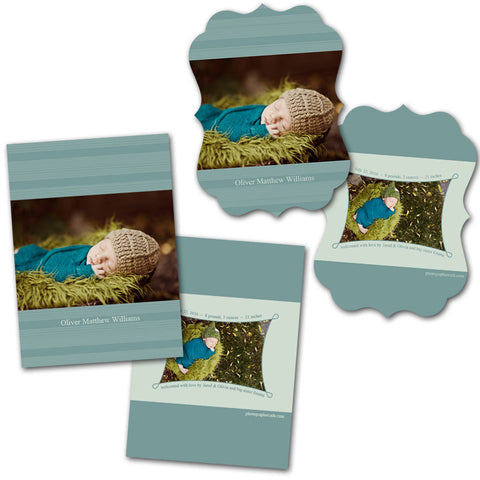 newborn card templates for photographers