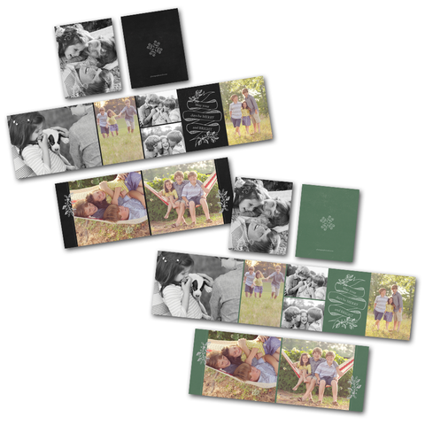 accordion mini book template in holiday design