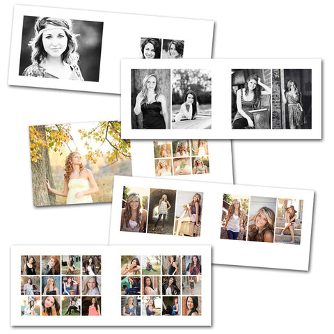 Clean 8x10 (horizontal) InDesign Album Library