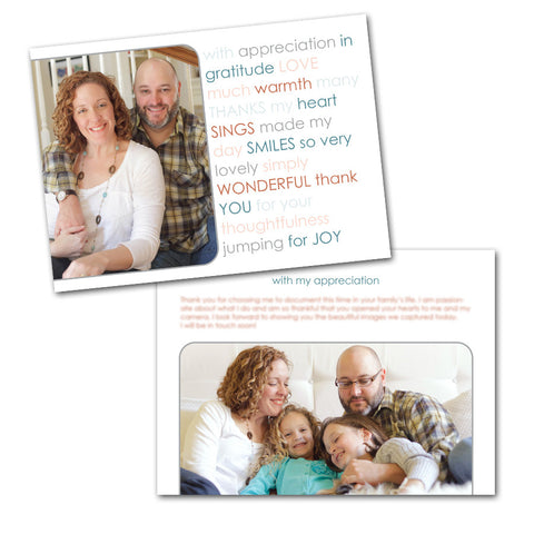 photographer thank you card templates for clients