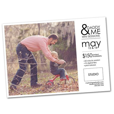Father's Day marketing board photoshop templates for social media