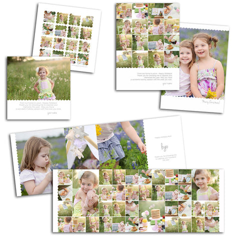 flat and folded photography cards