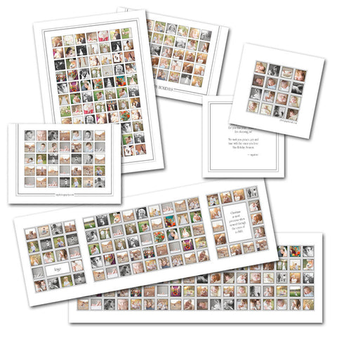 custom photography collage card templates
