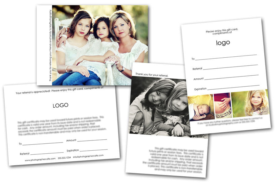 Minimalist Referral Card Set by Photographer Cafe | Photographer Cafe
