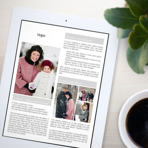 email newsletters for photography clients, use with Mail Chimp