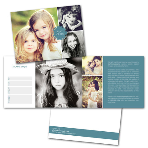 gift certificate photoshop photography templates
