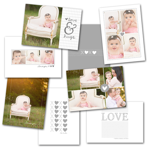 valentines and newborn card photoshop templates for photographers