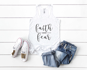 Faith Over Fear Racerback Tank