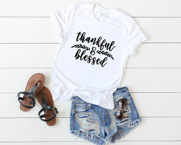Thankful Blessed Tee