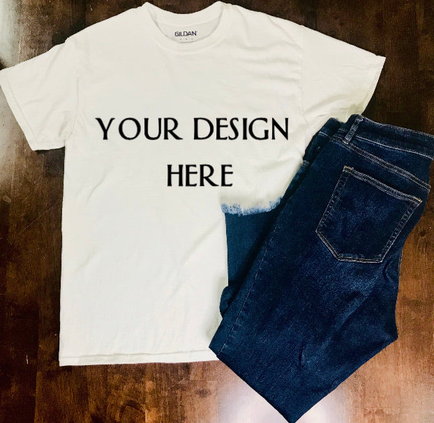Custom Basic Vinyl Shirt (Front/Back)