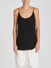 bassike scoop back singlet in black