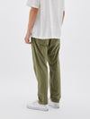 bassike twill classic beach pant in light military