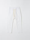 bassike original panel detail pant in white
