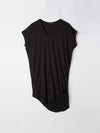 bassike boxy t.shirt dress with tail ll in black