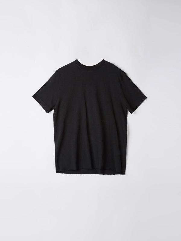 bassike 240 vintage neck t.shirt in black