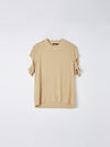 viscose cut out sleeve t.shirt