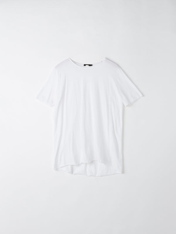 bassike original t.shirt with tail in white
