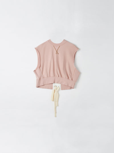 tie back vintage sleeveless sweat