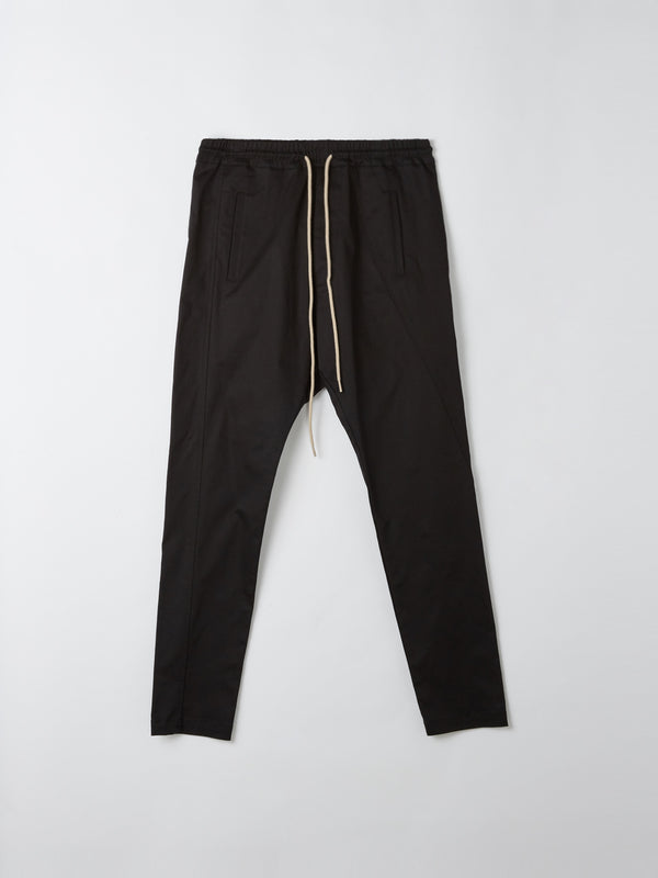 bassike combat pull on pant ll in black