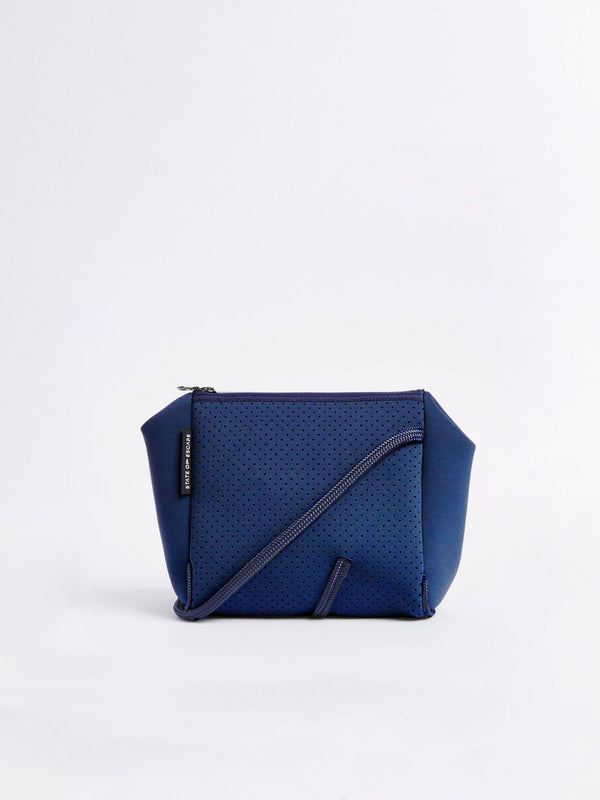 bassike state of escape festival crossbody in blend navy