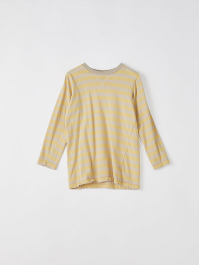 mini stripe crew long sleeve t.shirt
