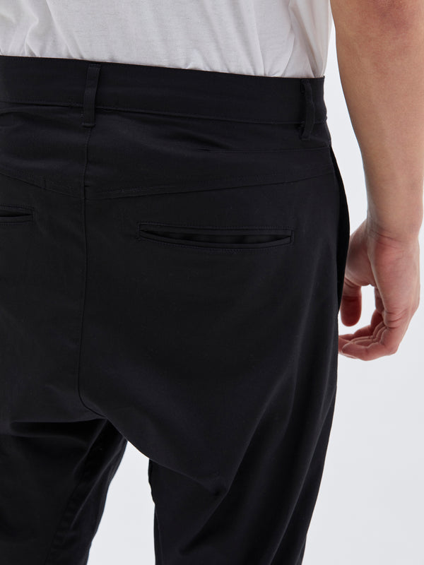bassike helix pant in black