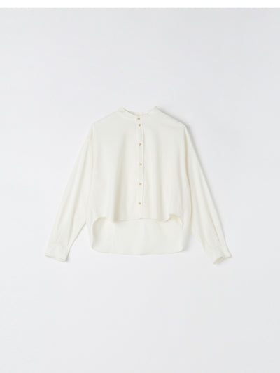 cropped dobby cord shirt