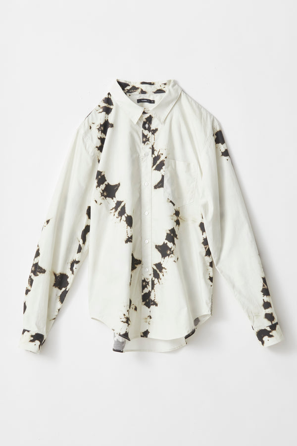 splatter print cotton shirt