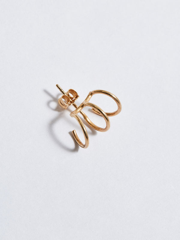 bassike pigna trickster earring in gold-plated