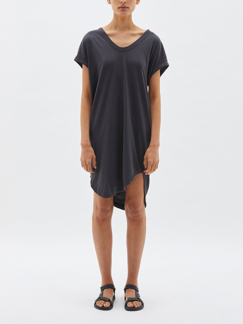boxy t.shirt dress with tail ll
