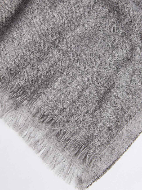 bassike bemboka cashmere scarf in grey