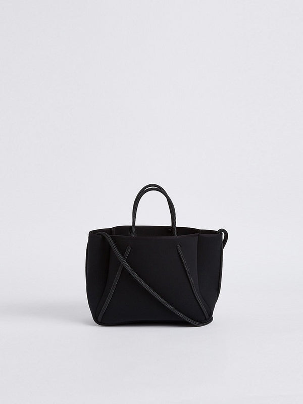 bassike state of escape petite guise tote bag in blackout