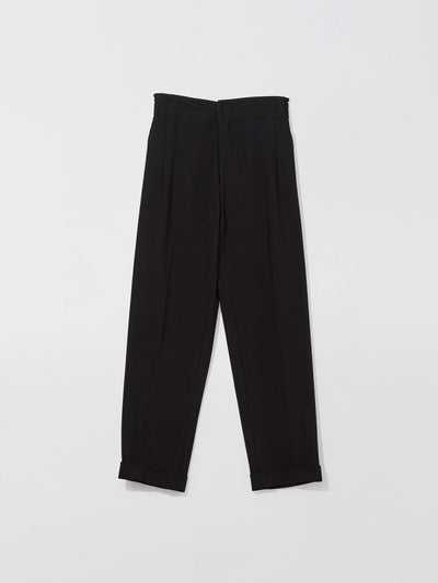 crepe cuffed hem tailored pant