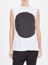 bassike dot tank in white / black dot