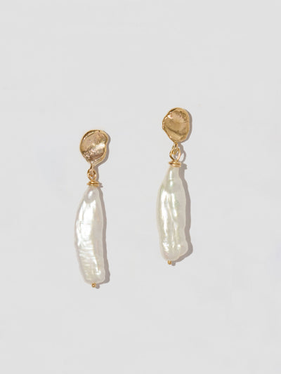molten pearl earrings