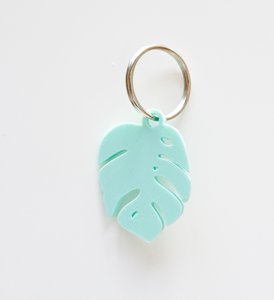 Coral Tipi Keychain & Monstera Leaf