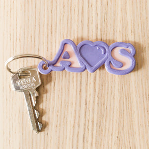 Love -  Keychain 2 Letters with ❤️