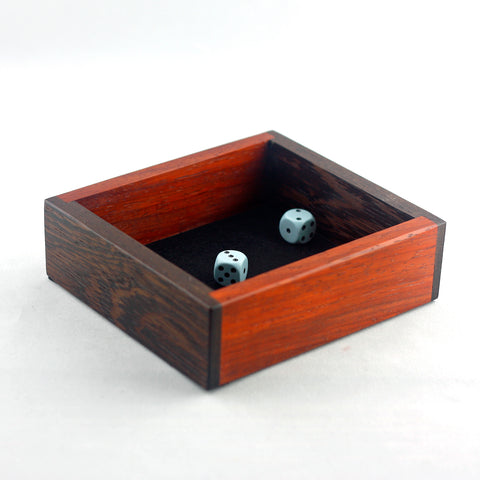 Wenge/Padauk Mini Dice Tray
