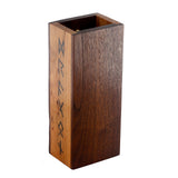 Premium hardwood dice tower made from walnut and cherry featuring runes down the side.