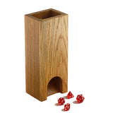 Premium hardwood dice tower made from white oak.
