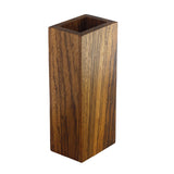 Premium exotic hardwood dice tower made from zebrawood.