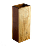 Premium hardwood dice tower made from maple and walnut.  Maple front features a sword design.