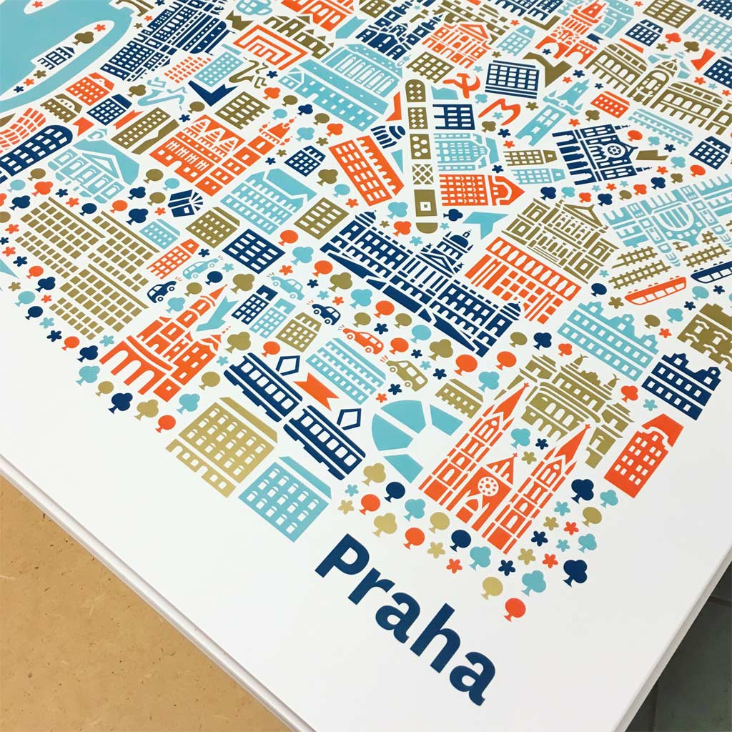 Prague City Map illustration