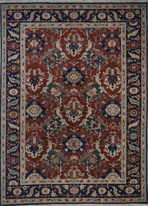 Turkish Heriz Hand knotted wool 9X12