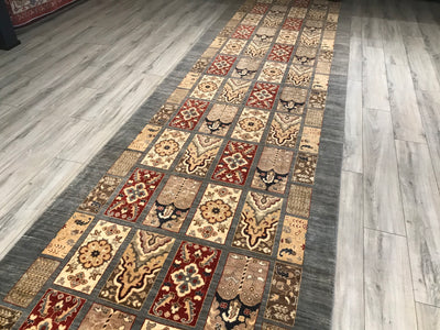 Pakistan Ziegler 5x24 Hand Knotted Wool