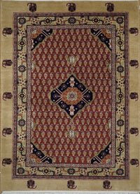 India Qum Hand knotted Wool 4X6